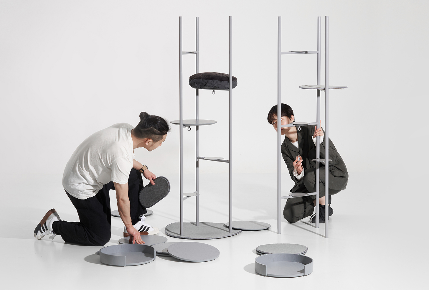 Modern Cat Tower for Milliong by Korean Designer Jiyoun Kim