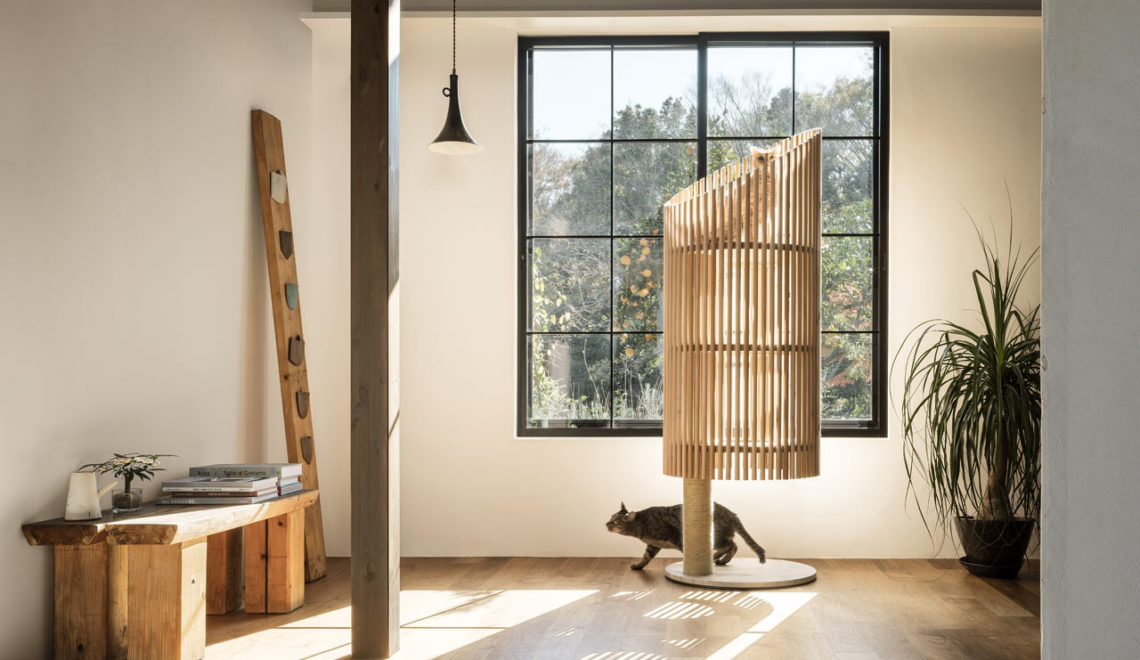 NEKO Minimalist Modern Cat Tree by Yoh Komiyama Design