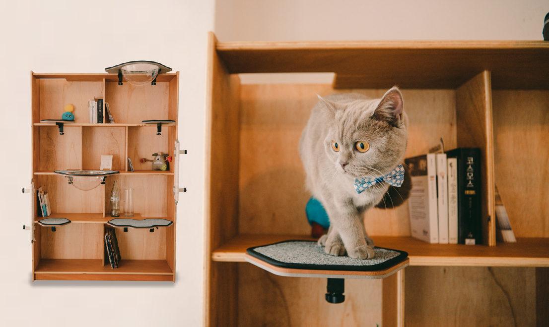 Turn Any Bookshelf Into a Stylish Cat Tower with CatKick