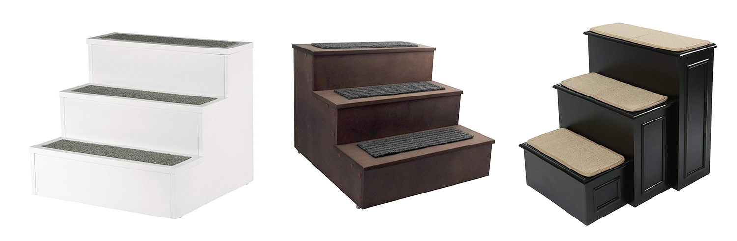 Contemporary and Traditional Wood Pet Steps