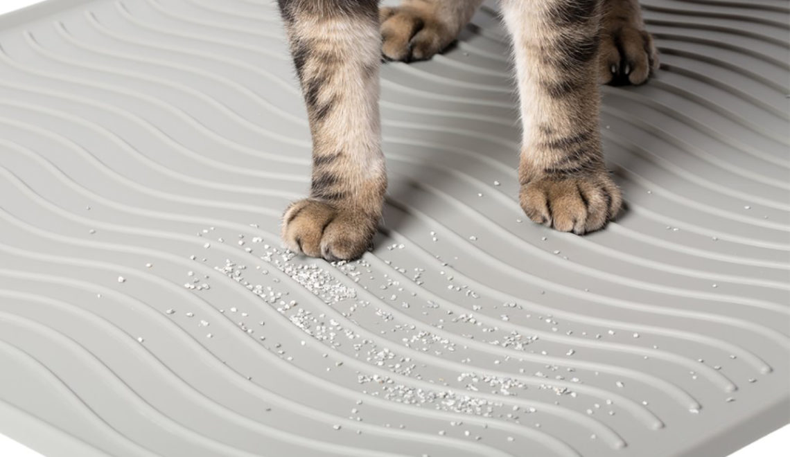 PetFusion ToughGrip Silicone Litter Mat for Superior Hygiene